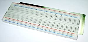 BB830 Solderless Plug-in BreadBoard, 830 tie-points, 4 power rails, 6.5 x 2.2 x 0.3in (165 x 55 x 9mm)