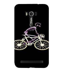 PrintVisa Skeleton Cycle Design 3D Hard Polycarbonate Designer Back Case Cover for Asus Zenfone Go