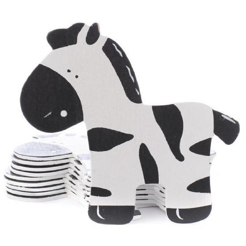 Package Of 10 Painted Wood Adorable Baby Zebra Cutouts For Crafting, Creating And Embellishing