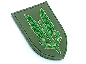 SAS Who Dares Wins Vert Airsoft Velcro PVC Patch