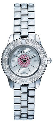 Christian Dior Women's CD112118M002 Christal White and Pink Diamond Watch