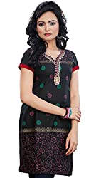Designer Collection of Cotton Kurti Tunic Tops with colorful Silk Embroidery