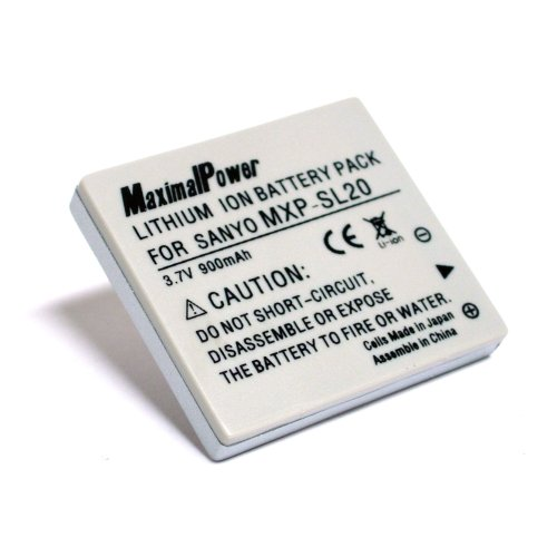 Maximal Power DB SAN DB-L20 Replacement Battery for Sanyo Digital Camera/Camcorder (Gray)