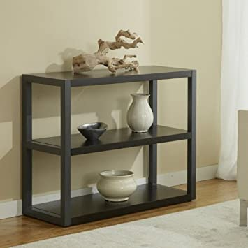 Open Low Bookcase in Espresso Finish