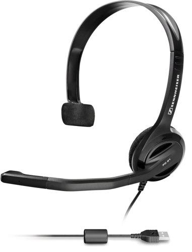 Sennheiser Pc 26 Usb Single-Sided Monaural Headset With Microphone & Crisp Sound Quality