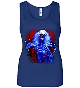 Sinister Skeleton Ghost Women's Tank Top blue XL