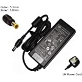 Laptop Charger forSamsung RV510 RV511 RV515 RV520Compatible Replacement Notebook Adapter Adaptor Power Supply - Laptop Power (TM) Branded (UK Powercord and 12 Month Warranty)