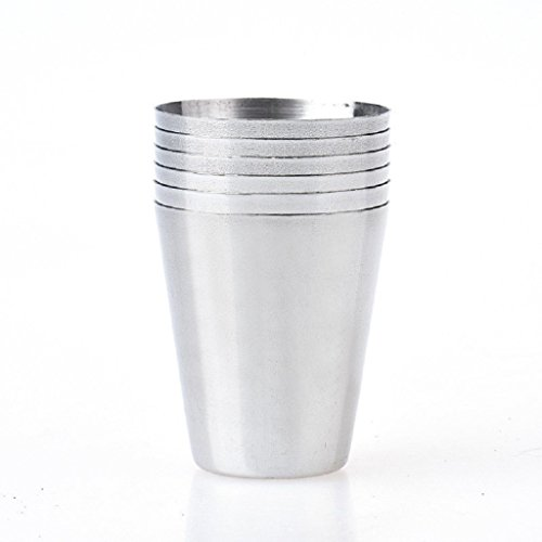 Laimeng, 6pcs Stainless Steel Cup Drinking Coffee Tea Tumbler Party Mug