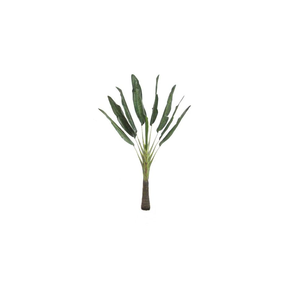 6 Ft Artificial Silk Traveller Palm Tree Plant with 8 Leaves / 9 Branches