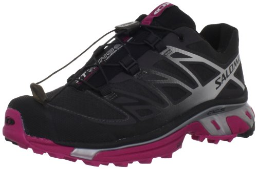 Salomon Women's XT Wings 3 Trail Running Shoe,Asphalt/Silver Metallic/Fancy Pink,9.5 M US