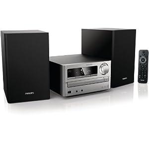 Philips MCM2000/12 Micro-Musiksystem/ Kompaktanlage (CD/MP3/WMA-Player, 20 Watt, USB) schwarz