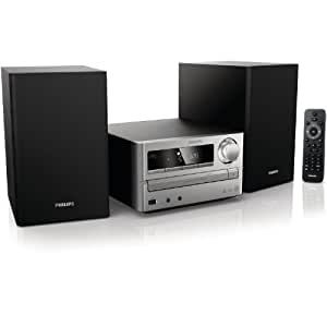 Philips MCM2000/12 Micro-Musiksystem/ Kompaktanlage (CD/MP3/WMA-Player, 20 Watt, USB) schwarz