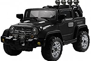 VB© Jeep Wrangler Twin 6v Motor Ride On Car - Black - from Very Bazaar (TM)