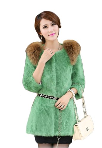100/% Real lavender Knitted Mink Fur Fox Collar Cape Stole Shawl Scarf Coat Gray