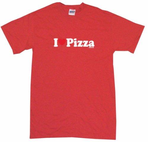 I Heart Love Pizza Men'S Tee Shirt Xl-Red