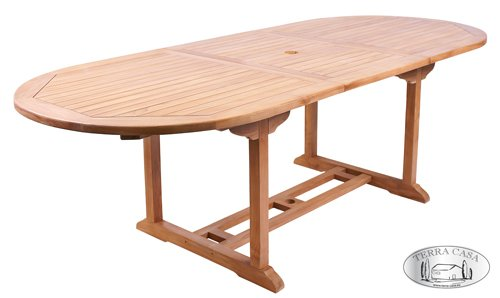 Gartentisch MANADO ausziehbar 180 - 240 cm Esstisch Teakholz Tisch Gartenmöbel Premiumqualität