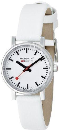 MONDAINE - A6583030111SBN - Montre Femme - Quartz - Analogique - Bracelet Cuir Blanc