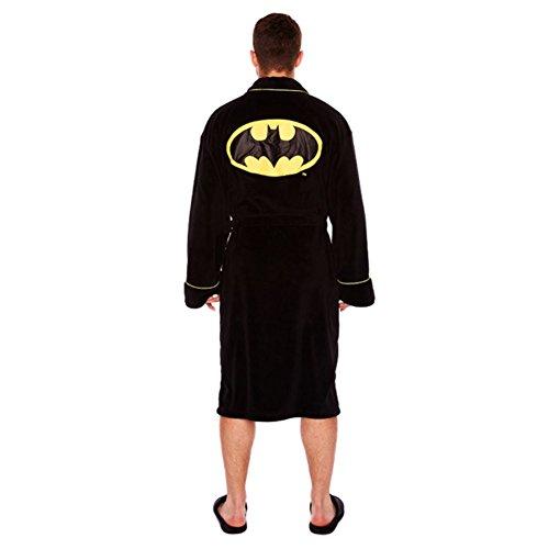 Ufficiale Nero Batman logo Glow in vestaglia Oscuro Fleece Accappatoio