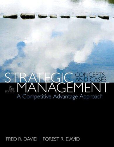Strategic Management: A Competitive Advantage Approach, Concepts & Cases (15th Edition) PDF