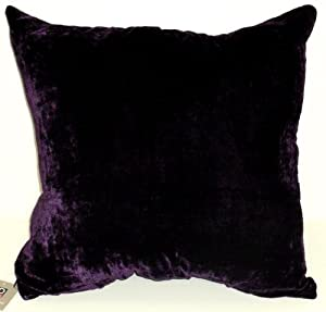 Eggplant Purple Throw Pillows : Amazon.com - DreamHome- Solid Velvet Decorative Pillow Cover 18