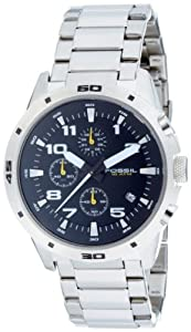 Fossil CH2517 Gents Chronograph Black Dial Steel Bracelet Watch