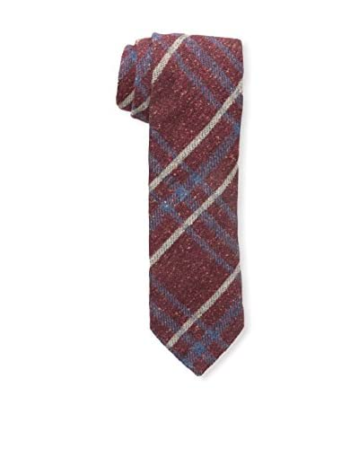 J.McLaughlin Men's Plaid Wool Blend Tie, Red