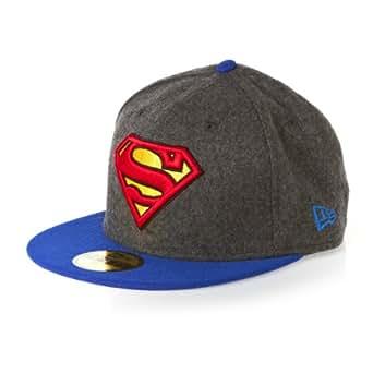 New Era 59Fifty DC Hero Melton Superman Cap - Grey