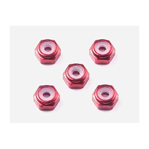 グレードアップパーツシリーズ No.493 2mmアルミロックナット(レッド5個)