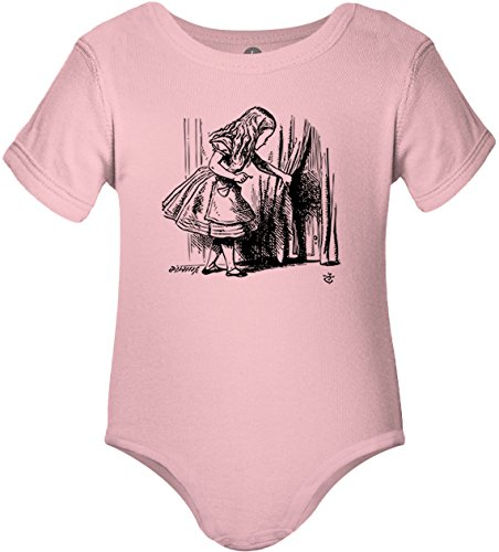 Big Texas Alice in Wonderland - Looking for The Door (Black) One-Piece Baby Grow Bodysuit