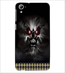 PrintDhaba Ghost D-4492 Back Case Cover for HTC DESIRE 826 (Multi-Coloured)