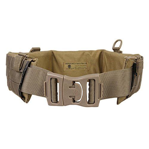 H World Shopping EMERSON Tactical Molle Waist Padded Patrol Battle Belt Military Hunting Khaki KH (Large) (Emerson Tactical Belt compare prices)