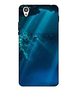 Case Cover Sea Printed Blue Hard Back Cover For One Plus X