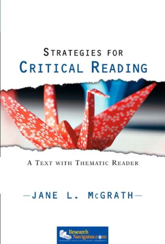 Strategies for Critical Reading: A Text with Thematic Reader (with MyReadingLab Student Access Code Card)