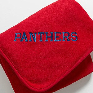 Red Personalized Fleece Blanket - Game Day front-1006399