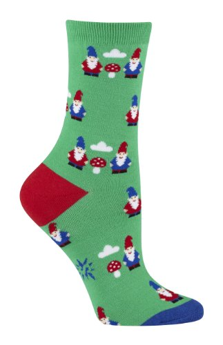 Sock It To Me Gnome and Mushroom Womens Crew Socks