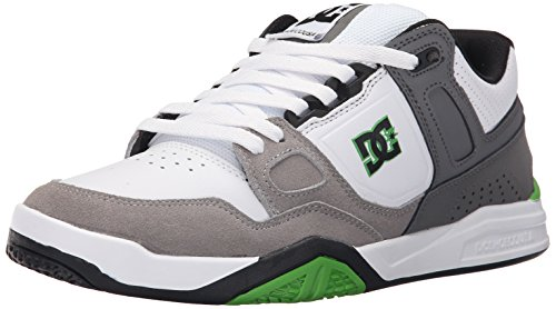 DC Men's Stag 2 Skate Shoe, White/Grey, 14 M US