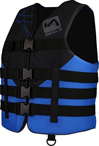 MESLE Schwimmweste Vario P4 blu, 50 N Schwimmhilfe, Prallschutz, Doppelgrößen, schwarz-blau