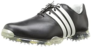 adidas Men's Adipure Golf Shoe,Black/Tour White/Black,14 M US