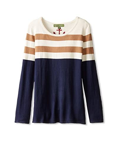 Amber Hagen Women's Nautical Stripe Pullover Sweater