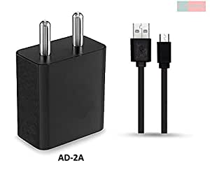 Philips Xenium I908 / Philips I 908 Charger Adapter 2 Amp ( 2 Ampere ) Original Wall Charger Fast Charger Travel Charger Mobile USB Charger With 1 Meter Micro Usb Cable By A2Z Shop (White, Black)
