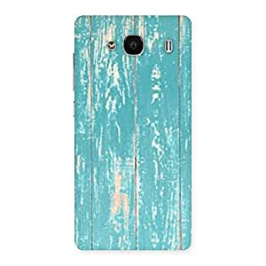 Stylish CyanBlue Bar Texture Back Case Cover for Redmi 2 Prime
