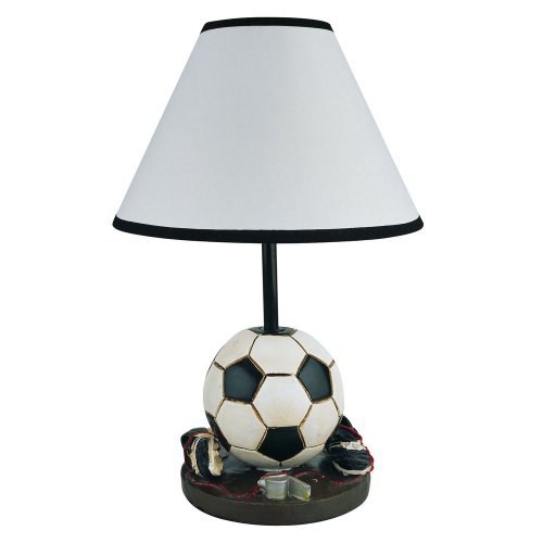 Orc Furniture White Cone Shaped Shade Soccer Accent Lamp