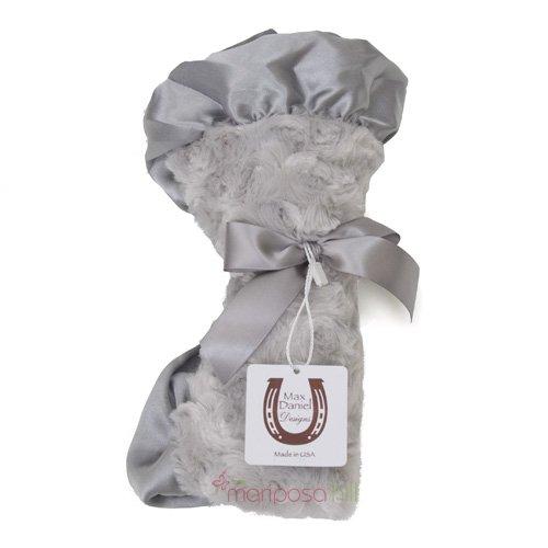 Max Daniel Baby Rosebuds & Satin Security Blanket - Platinum front-899401