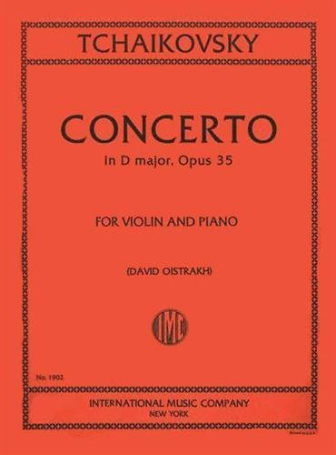 Tchaikovsky: Concerto in D Major, Op. 35, for Violin and Piano PDF