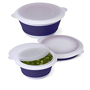 Click to buy Cool Kitchen Gadget: Progressive International Collapsible Prep Bowl Set, Blue and White from Amazon!