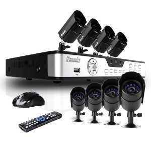 Zmodo PKD-DK0855-500GB 8-Channel DVR Security System with 8 CMOS IR Cameras, 500 GB Hard Drive, and Remote Web/Mobile Access
