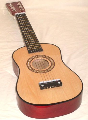 Kids 23-Inch Toy Guitar for Children Ages 3 and up - Natural
