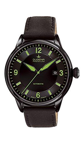 Dugena  Dugena Premium - Reloj de automático para hombre, con correa de cuero, color negro