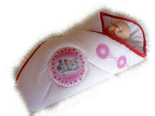 Blueberry Shop Newborn Baby Swaddle Wrap Blanket Duvet Sleeping Bag Snuggle Wrap Pink Zebra - 1