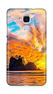 Amez designer printed 3d premium high quality back case cover for Huawei Honor 5C (Nature (11))